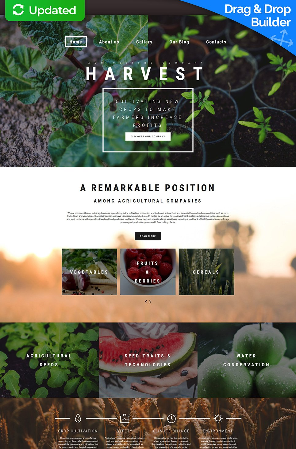 Harvest Responsive Responsive Website Template - image