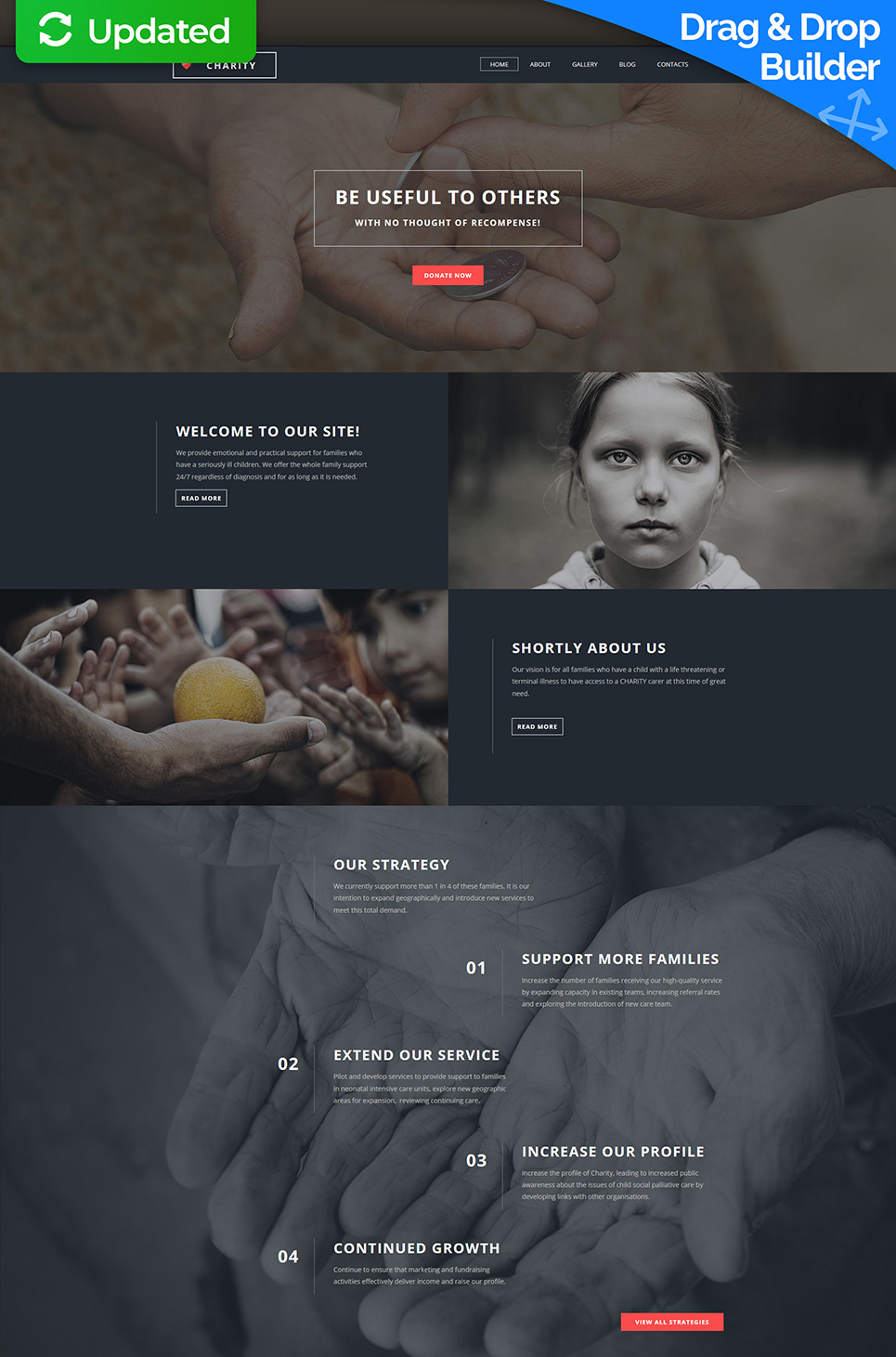 Fund for Charities Responsive Website Template - image