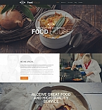 Cafe & Restaurant Moto CMS 3  Template 59267
