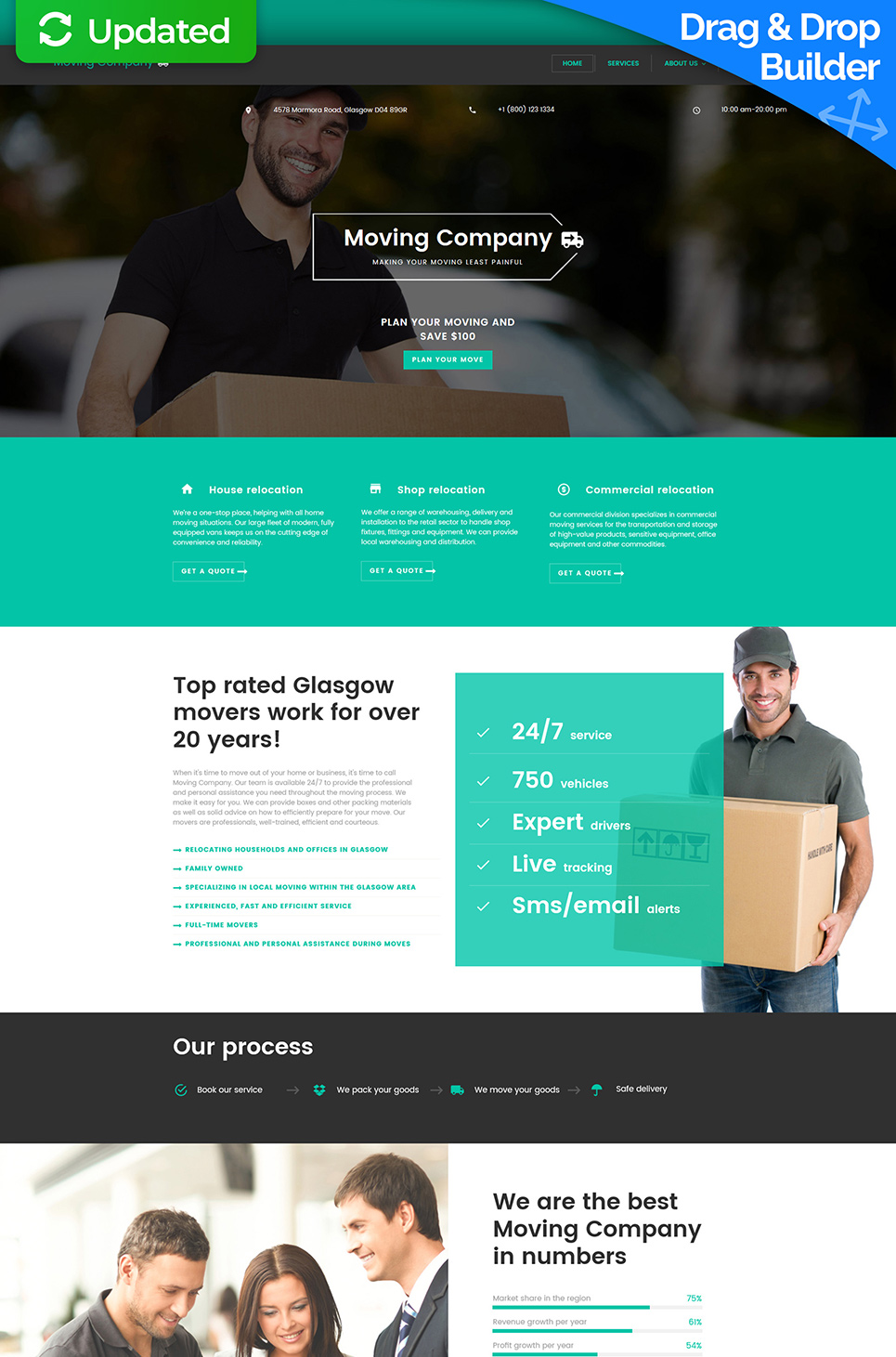 Moving Company Responsive Website Template - image