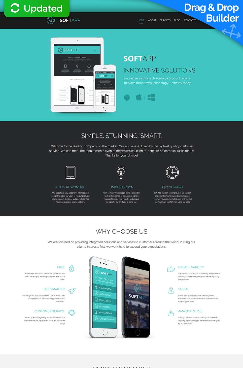Soft App Responsive Website Template - image