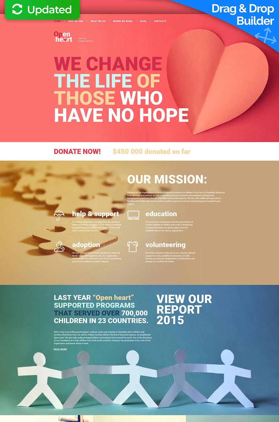 Open Heart Responsive Website Template - image