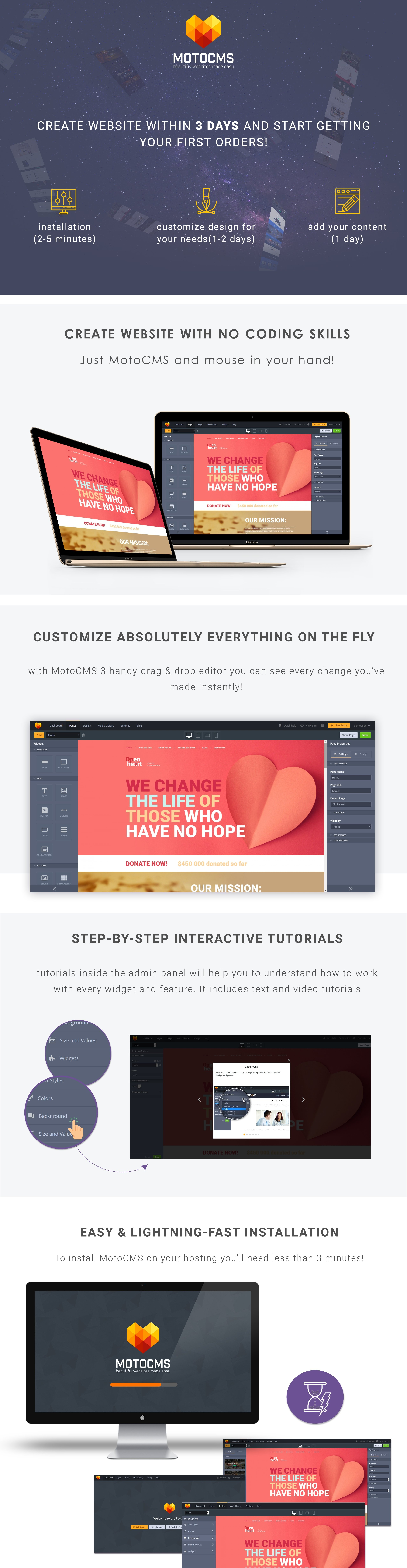 Charity Co  Responsive Moto CMS 3 Template