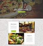 Cafe & Restaurant Moto CMS 3  Template 59275