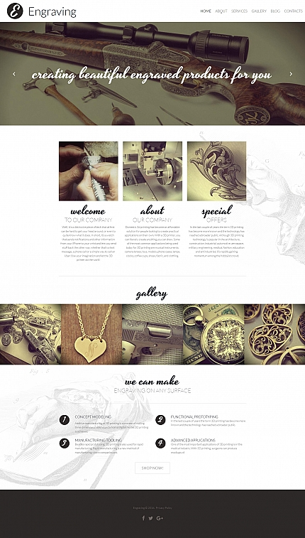ADOBE Photoshop Template 59277 Home Page Screenshot