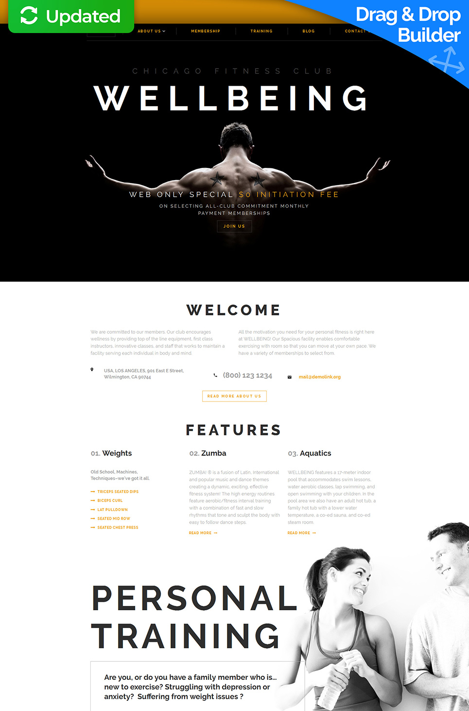 Wellbeing Responsive Website Template - image