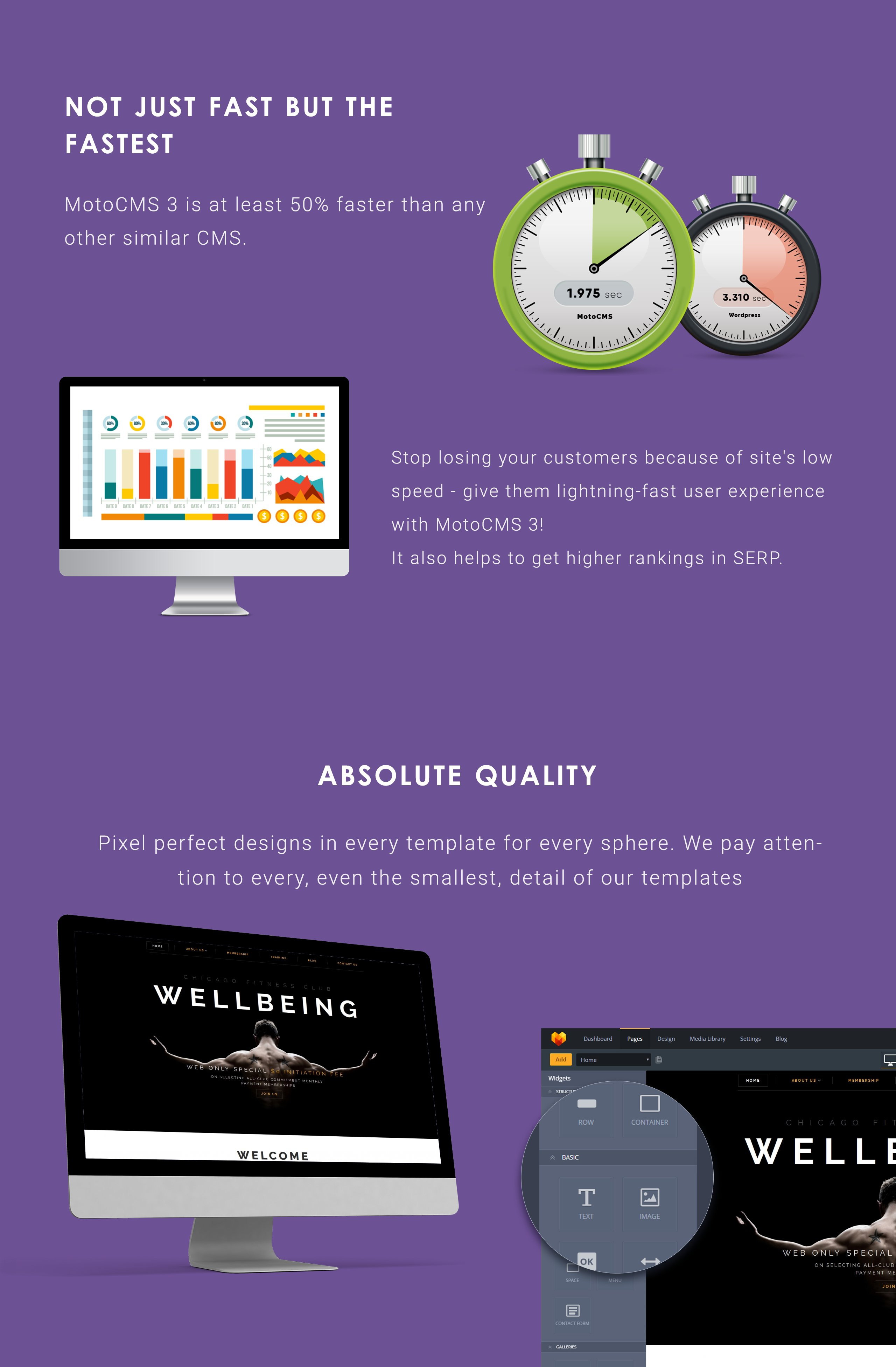 Wellbeing - Fitness Club Moto CMS 3 Template
