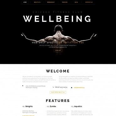 Купить Шаблон сайта фитнес клуба - WELLBEING. Купить шаблон #59278 и создать сайт.
