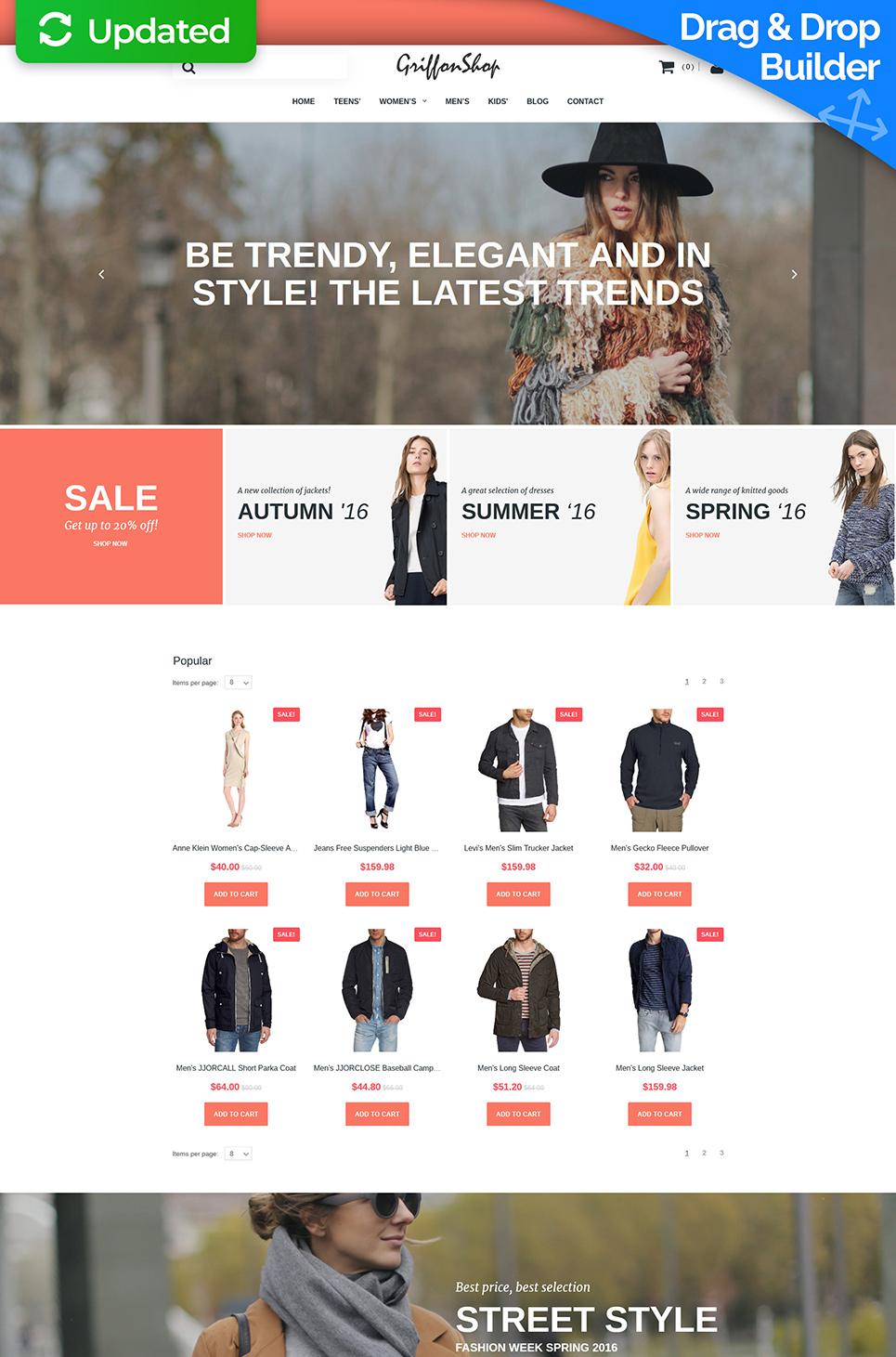 Grillon Shop Ecommerce Website Template - image