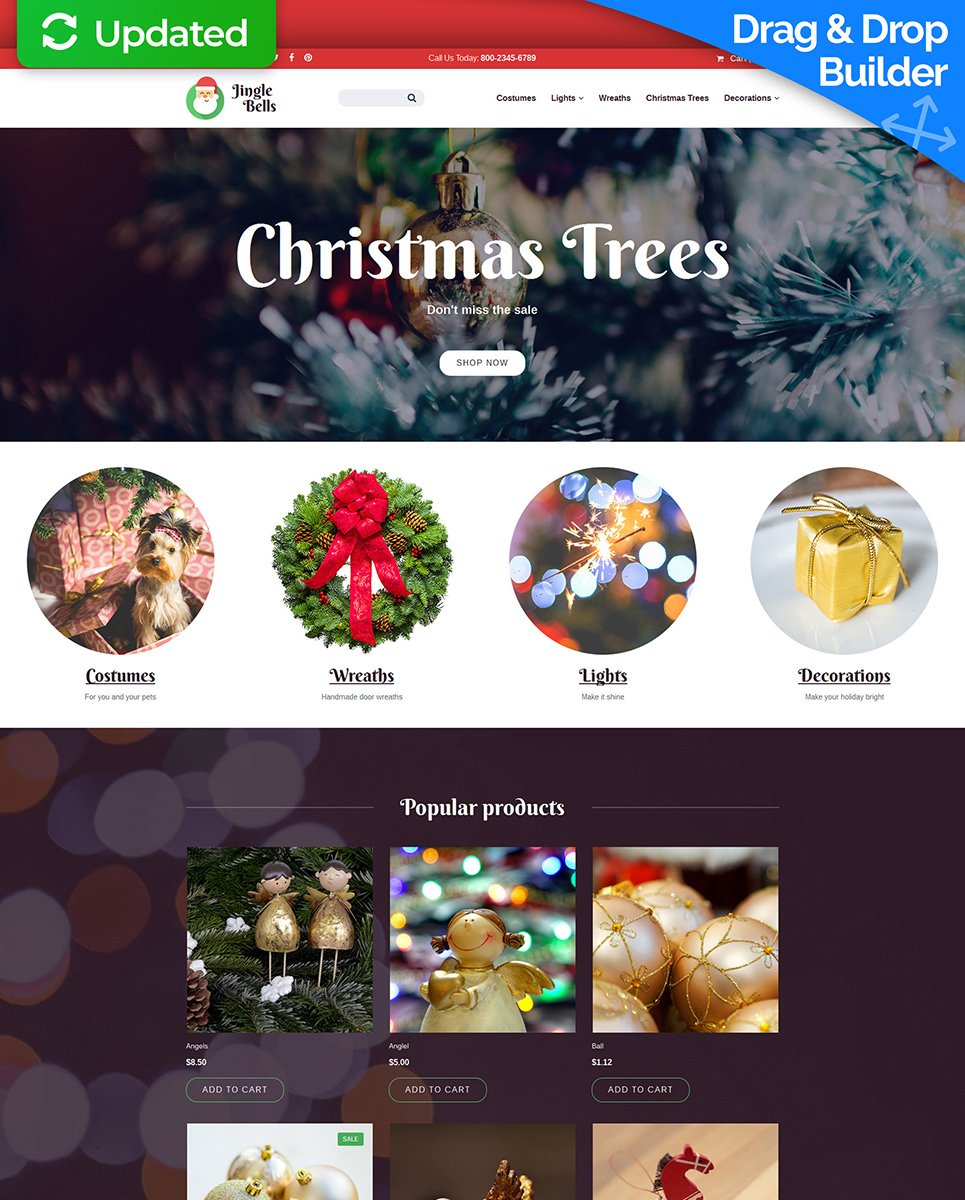 Jingle Bells Ecommerce Website Template - image