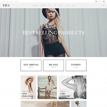 Preview image of Fashion MotoCMS Ecommerce Template No. 59282