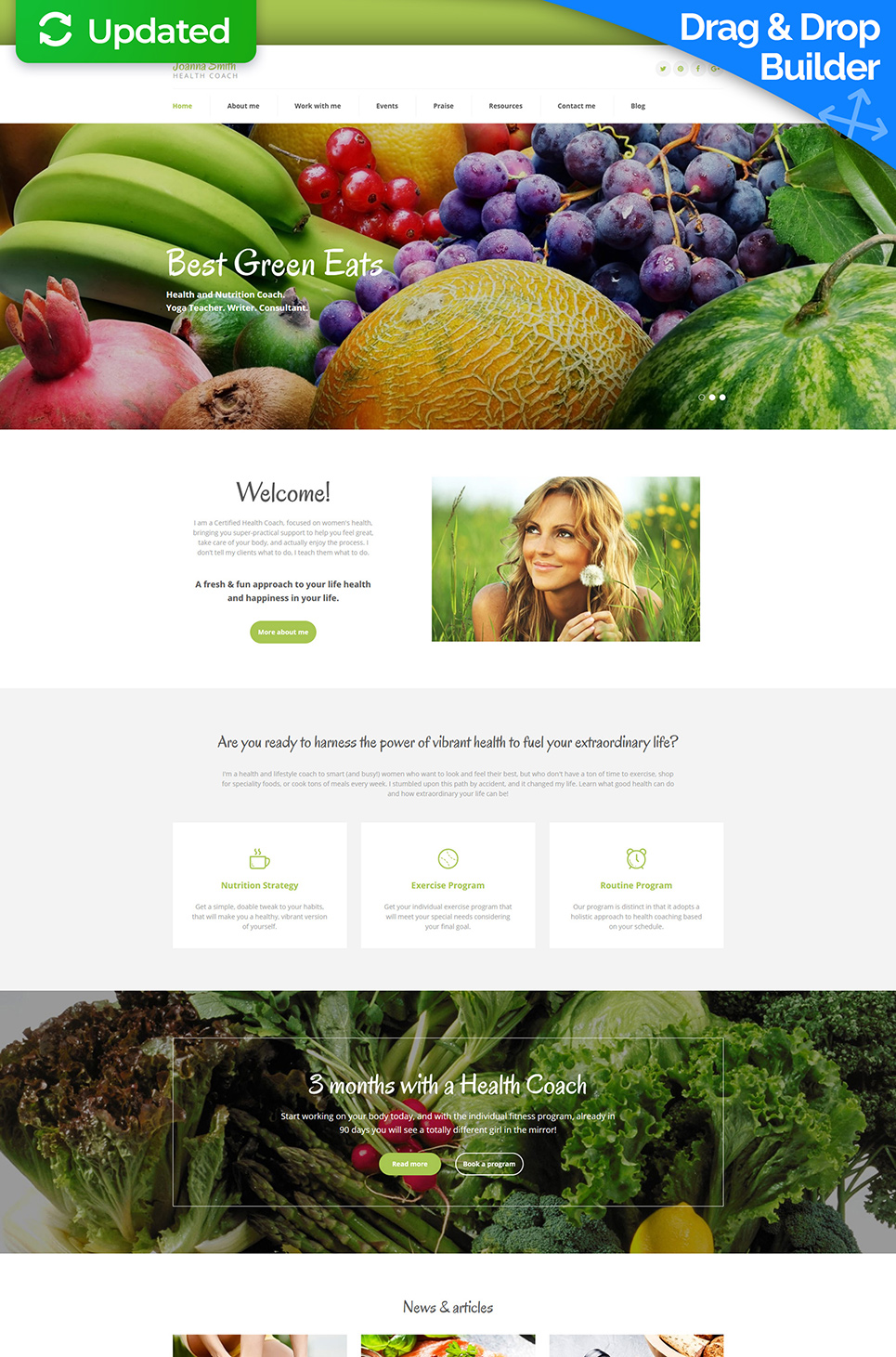 Weight Loss Responsive Moto CMS 3 Template - image