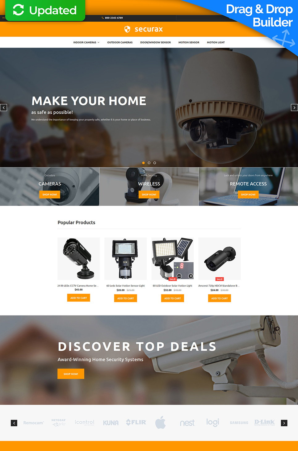 Securax Responsive Ecommerce Website Template - image