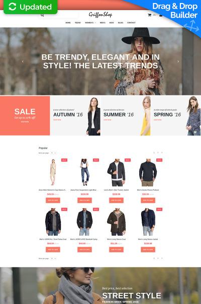 Fashion Store Responsive MotoCMS інтернет-магазин