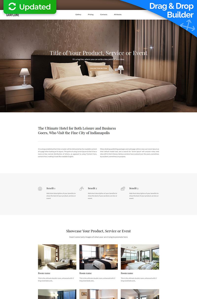 Адаптивний Шаблон цільової сторінки на тему готелі №59242