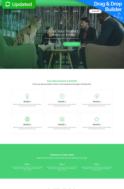 Flexível templates de Landing Page  №59234 para Sites de Consultor financeiro