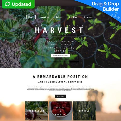 Harvest - MotoCMS 3 Template based on Bootstrap
