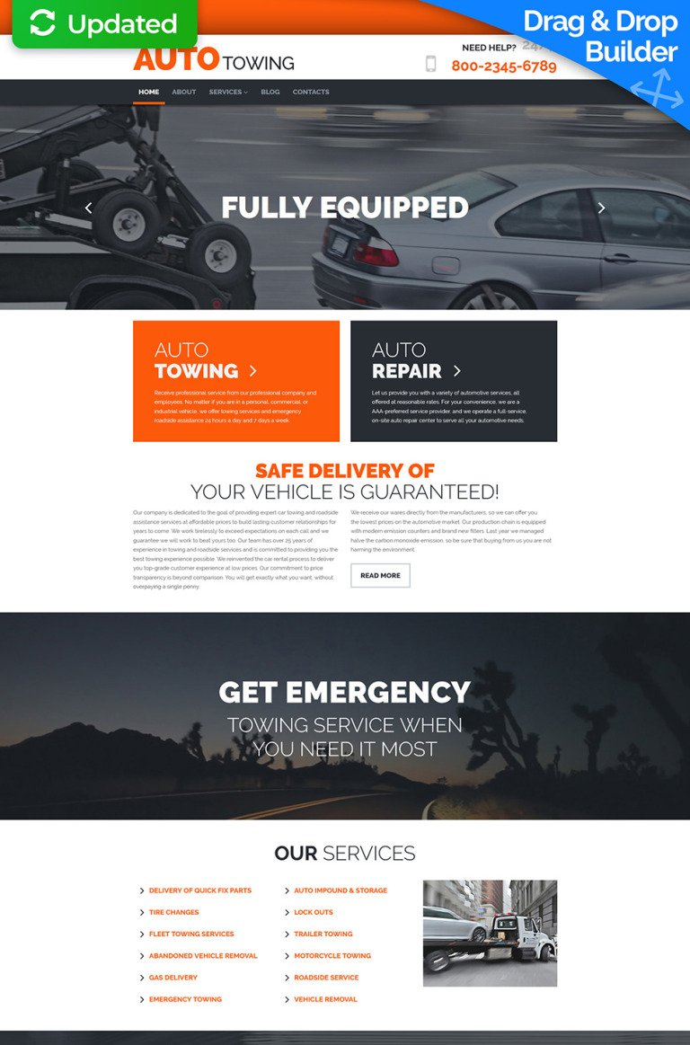 Auto Towing Responsive Moto CMS 3 Template New Screenshots BIG