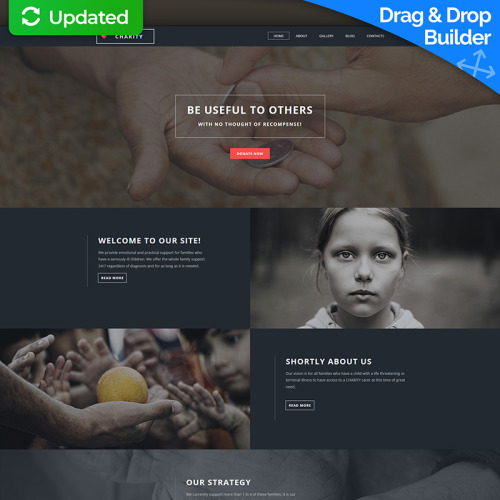 Charity - MotoCMS 3 Template based on Bootstrap
