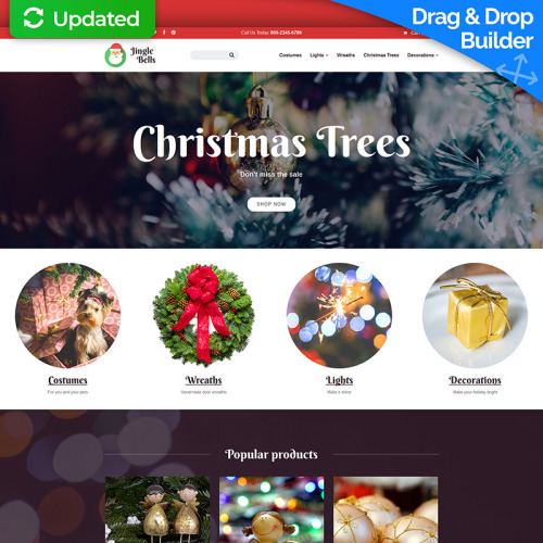 Christmas - MotoCMS Ecommerce Template based on Bootstrap