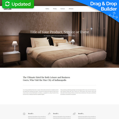 Flexível templates de Landing Page  №59242 para Sites de Hotéis
