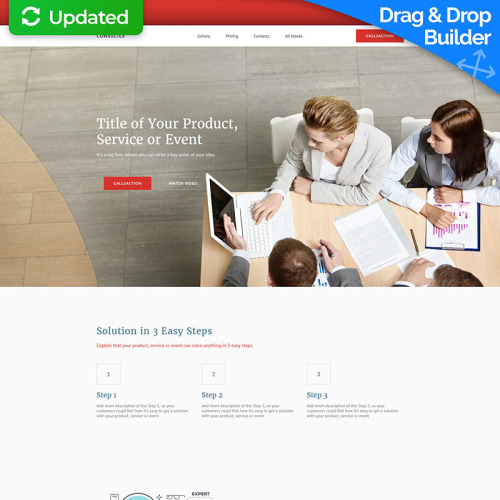 Consultex - MotoCMS Landing Page Template based on Bootstrap