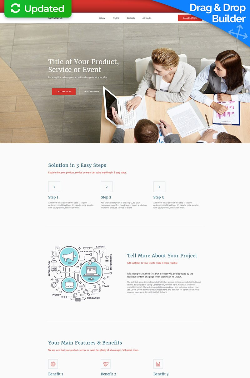 Consulting Responsive Landing Page Template