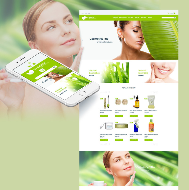 Cosmetics Store Responsive MotoCMS Ecommerce Template New Screenshots BIG