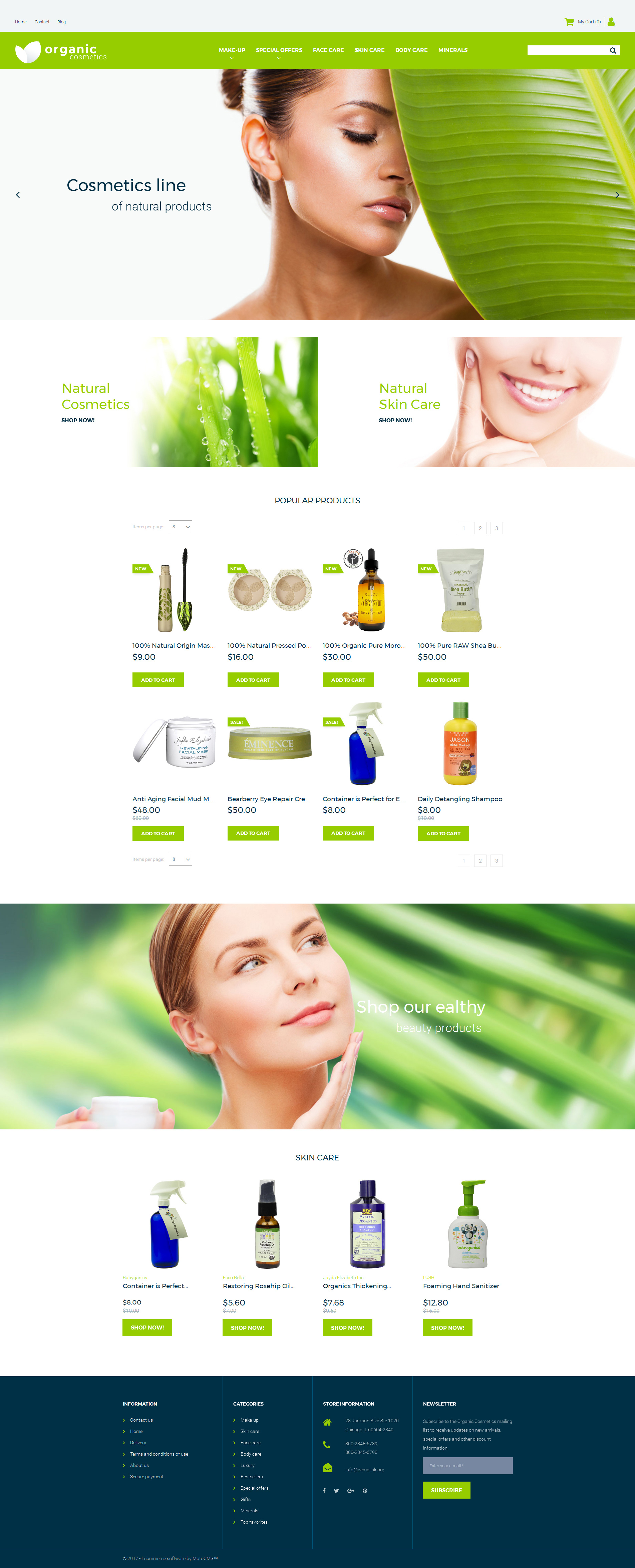 Cosmetics Store Responsive MotoCMS Ecommerce Template - screenshot