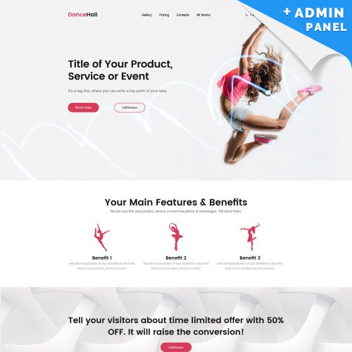 Dancehall - Landing Page Template based on Bootstrap