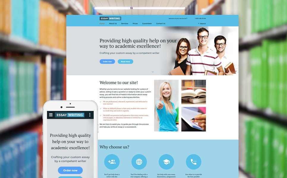 essay writer website template