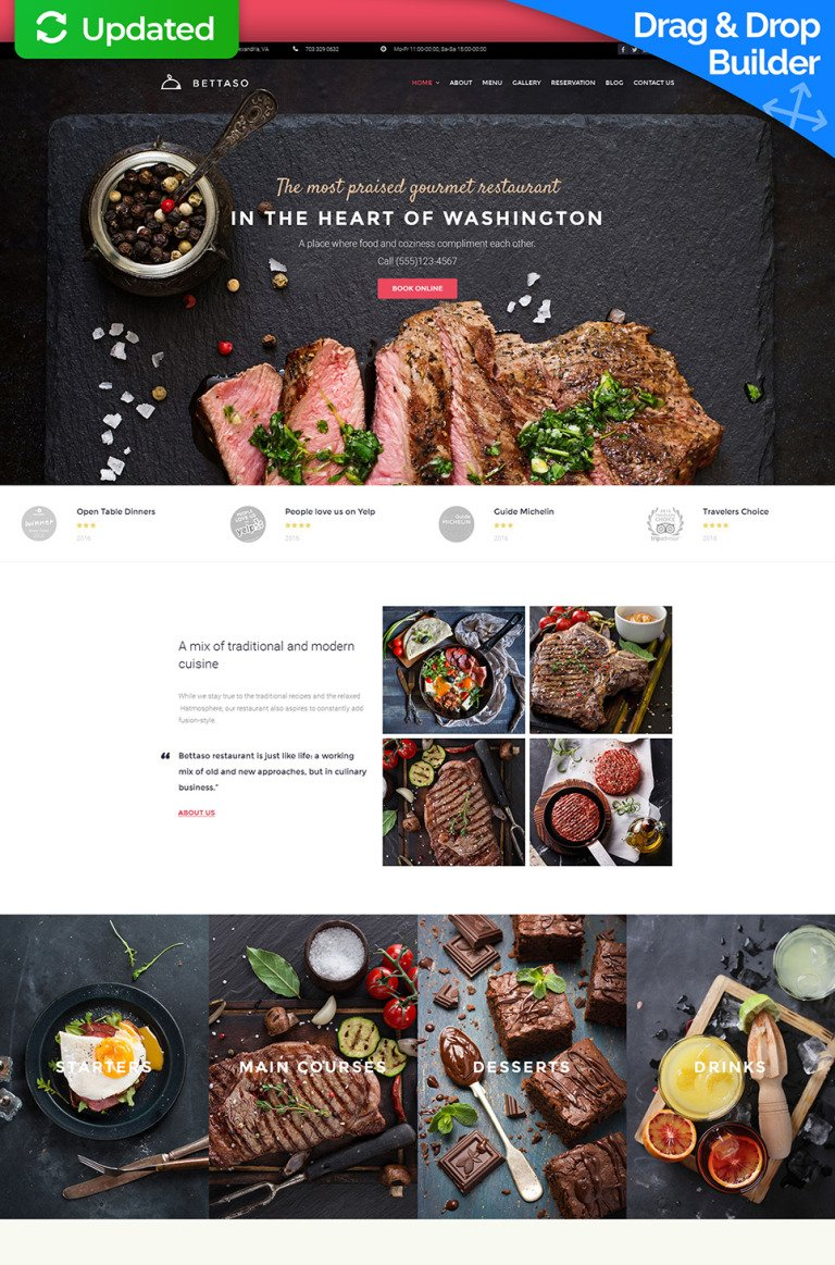 European Restaurant Responsive Moto CMS 3 Template New Screenshots BIG