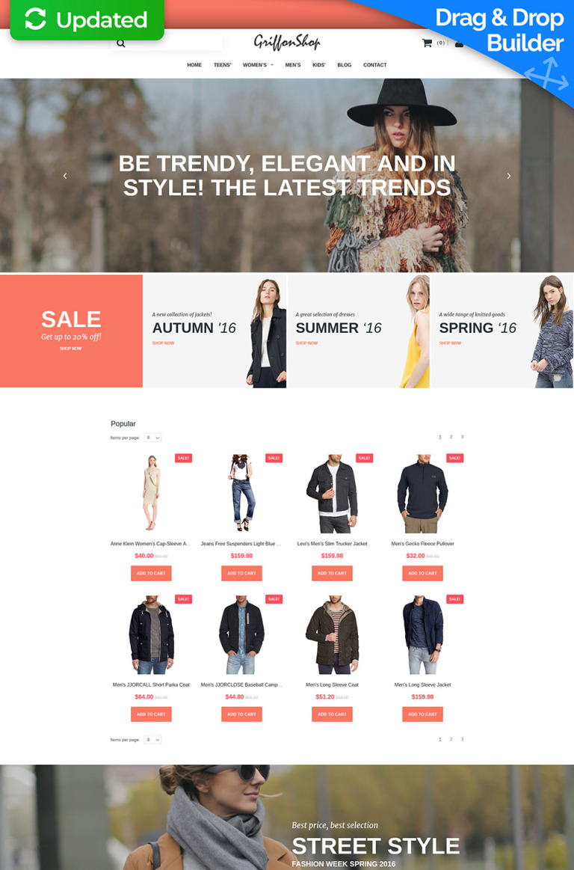 Fashion Store Responsive MotoCMS Ecommerce Template New Screenshots BIG