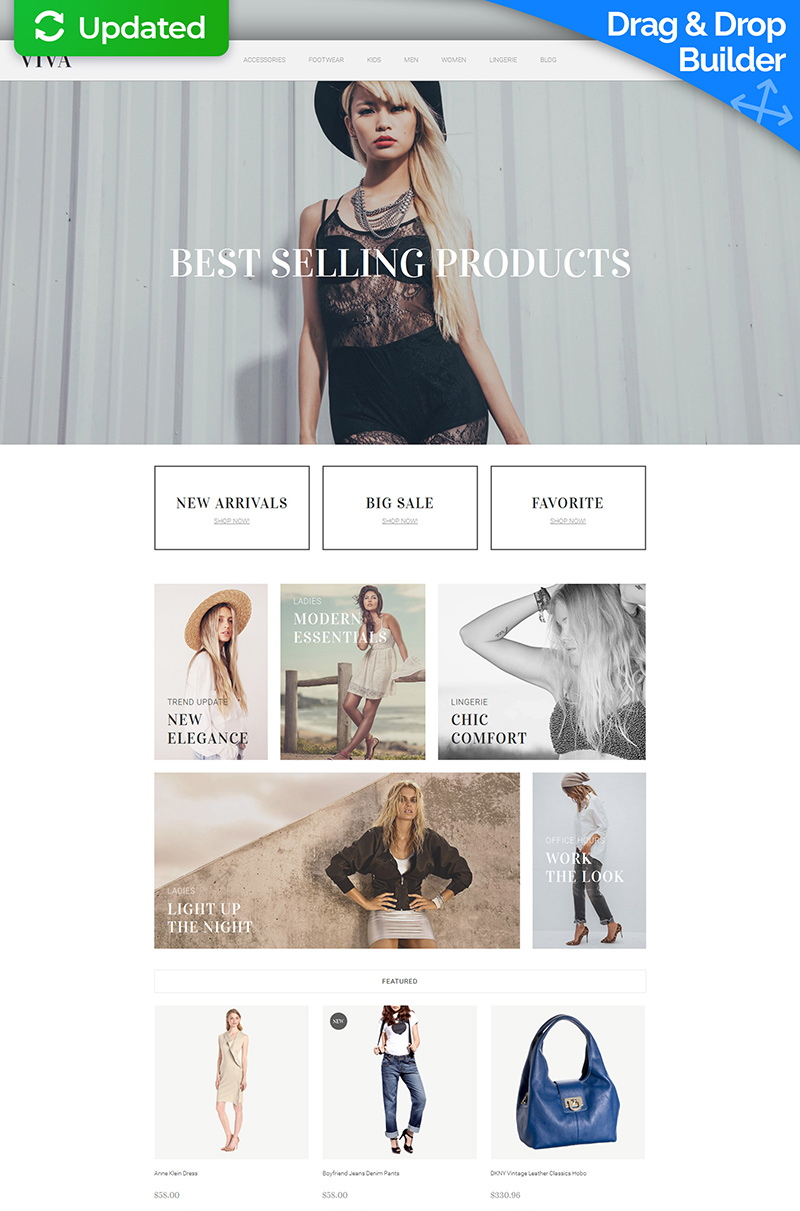 Fashion Store Responsive MotoCMS Ecommerce Template