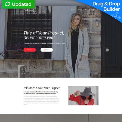 Fashion  - Responsive Fashion Website Landing Page Template