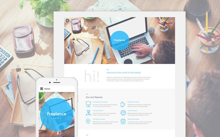 Freelance Joomla Template New Screenshots BIG