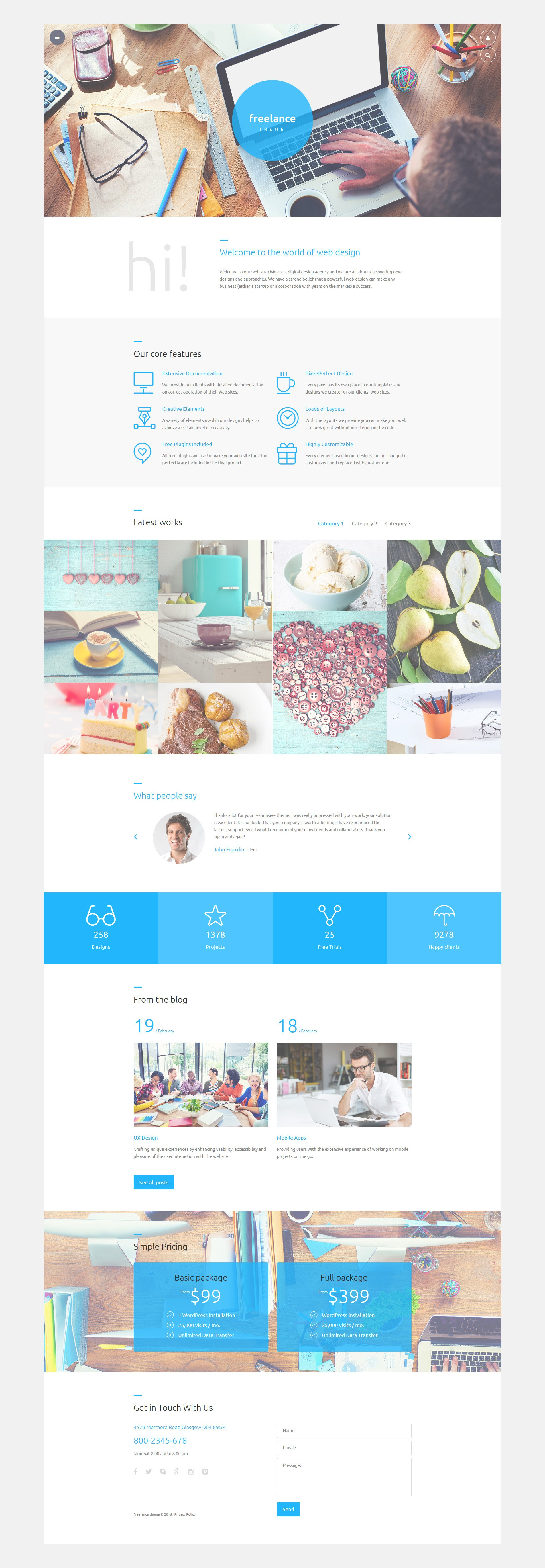 Freelance Joomla Template