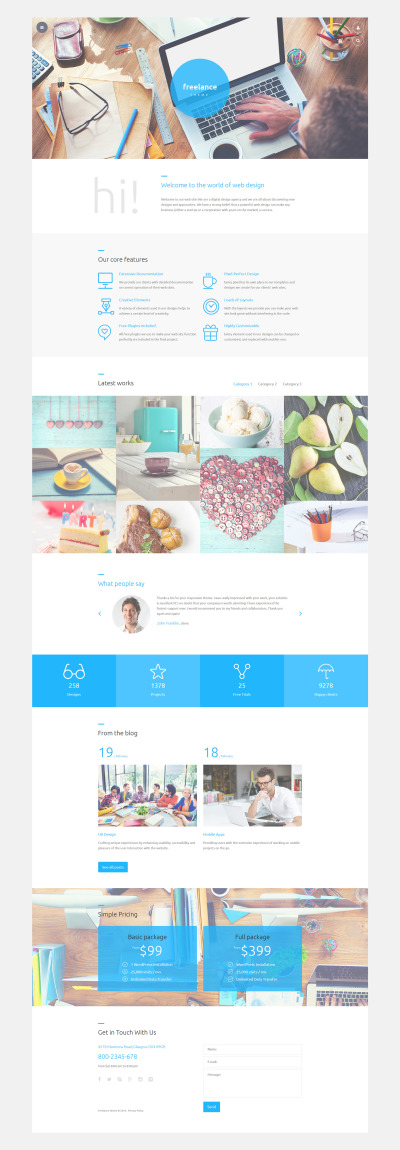 Freelance Joomla Template