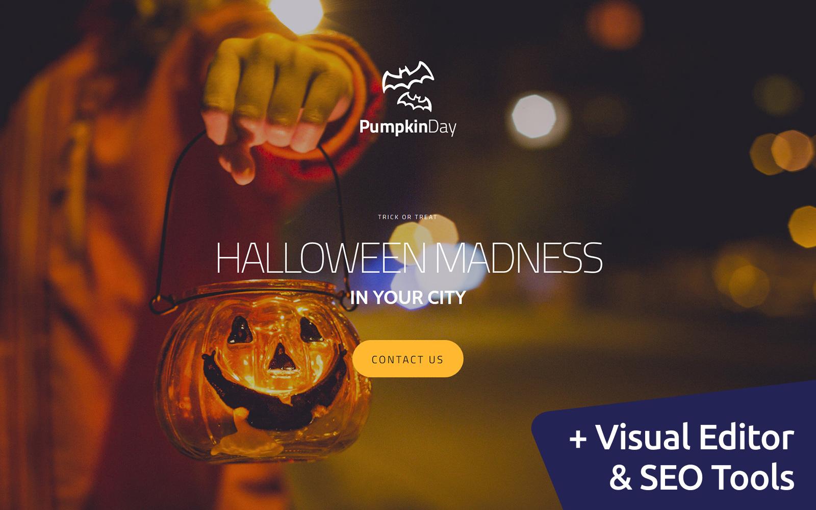 """Halloween"" - адаптивний MotoCMS 3 шаблон №59228"