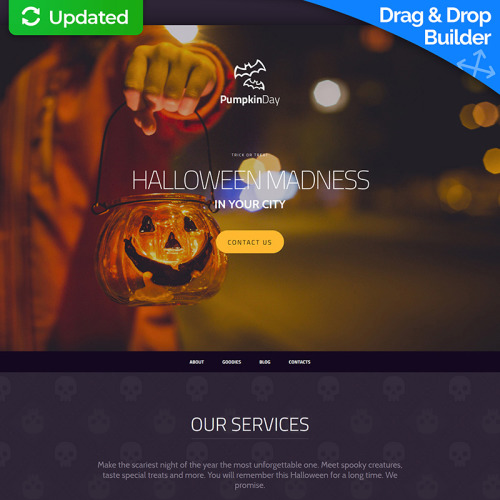 Pumpkin Day - MotoCMS 3 Template based on Bootstrap