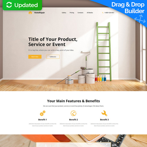 Home Repair - Landing Page Template based on Bootstrap