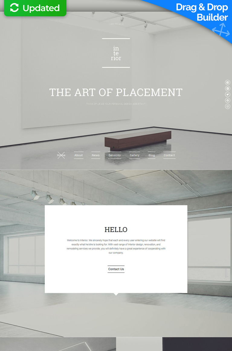 Interior Design Responsive Moto CMS 3 Template New Screenshots BIG