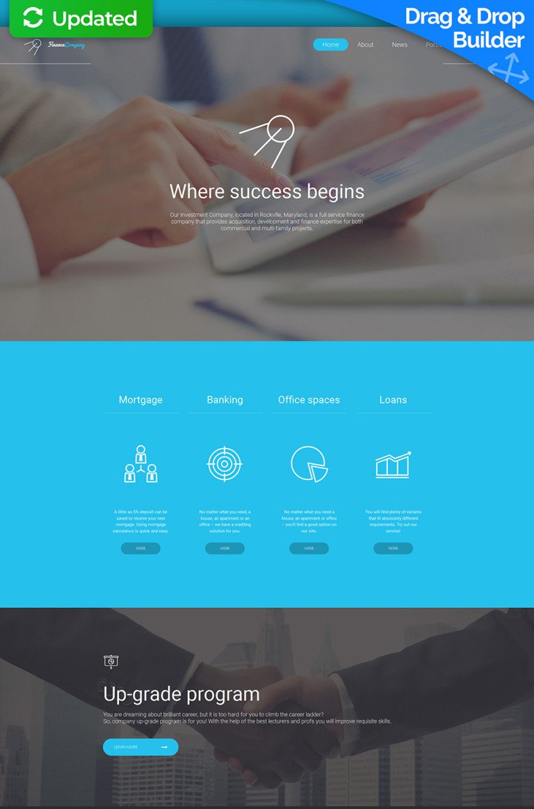 Investment Company Responsive Moto CMS 3 Template New Screenshots BIG
