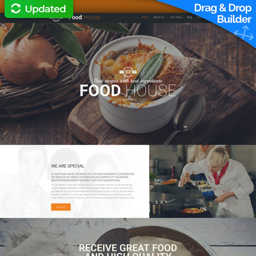 Food House - MotoCMS 3 Template based on Bootstrap