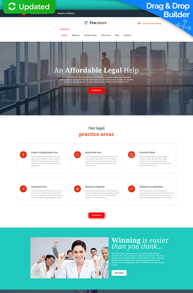 Law Firm Responsive Moto Cms 3 Template 59259