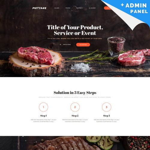 Metiane - Landing Page Template based on Bootstrap