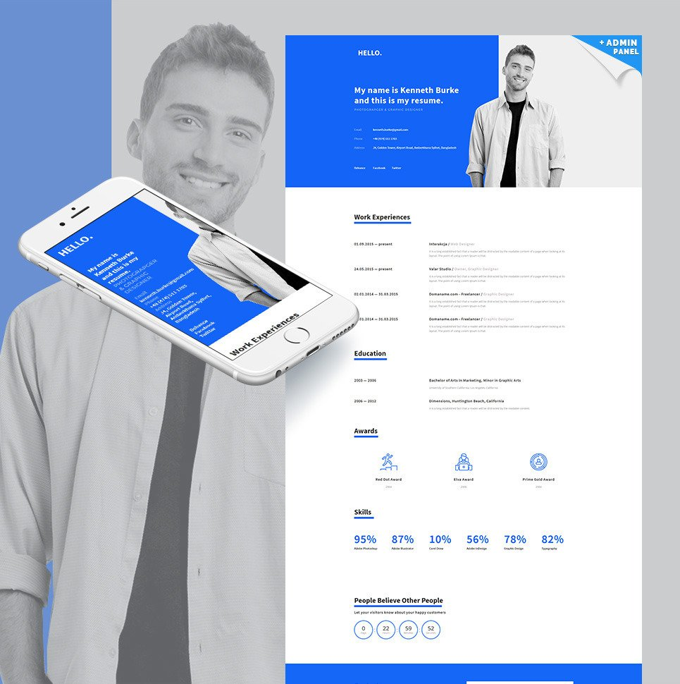 Online CV MotoCMS 3 Landing Builder Landing Page Template New Screenshots BIG
