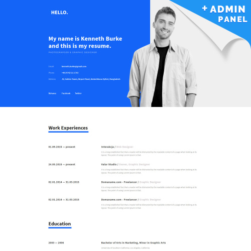 Hello - Landing Page Template based on Bootstrap