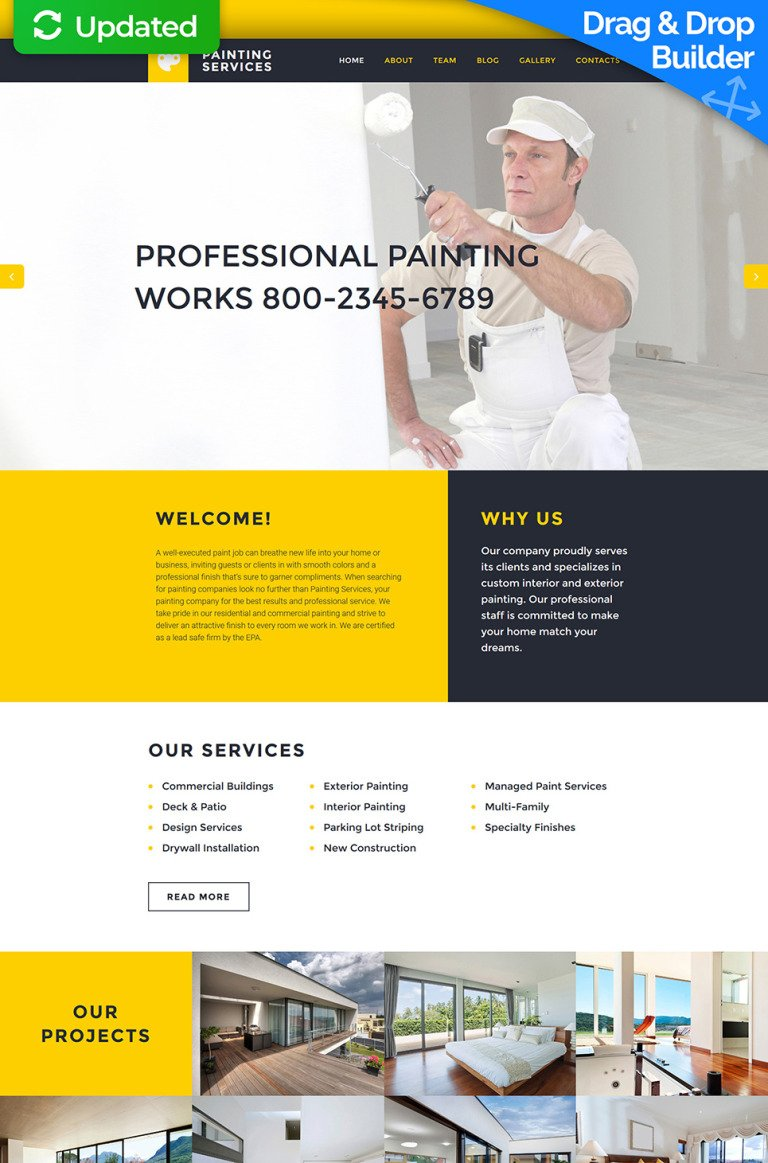 Painting Company Responsive Moto CMS 3 Template New Screenshots BIG