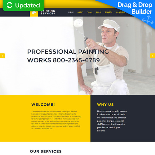 Painting Services - MotoCMS 3 Template based on Bootstrap